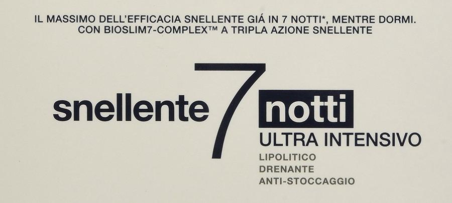somatoline Snellente 7 notti Ultra Intensivo confezione